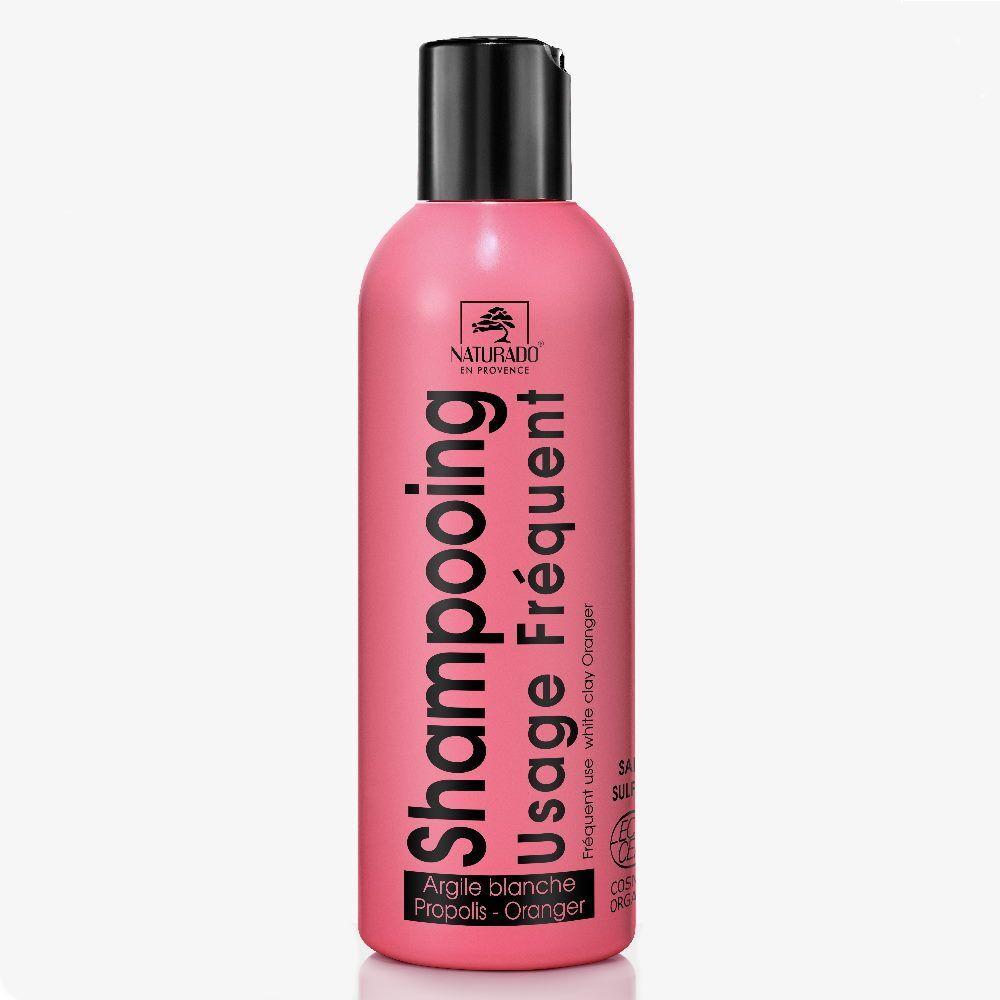 Naturado Shampooing Usage fréquent bio - Argile blanche, Propolis et Oranger 200 ml - Naturado