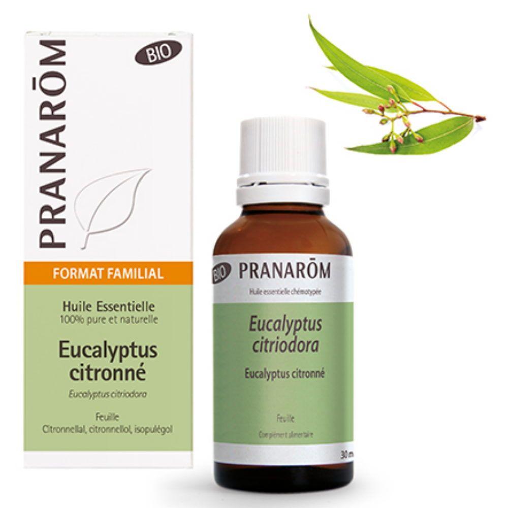 Pranarôm Eucalyptus citronné Bio - Huile essentielle d'Eucalyptus citriodora 30 ml - Pranarôm
