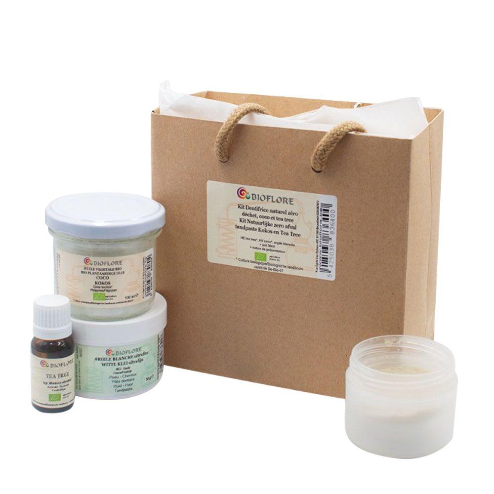 Bioflore Kit dentifrice naturel zéro déchet Bio - Coco et Tea tree - Bioflore