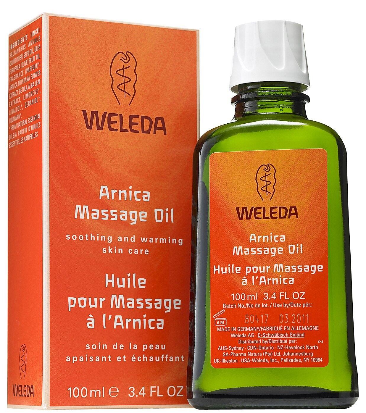 Weleda Huile de Massage à l'Arnica - Réchauffe et détend les muscles 100 ml - Weleda