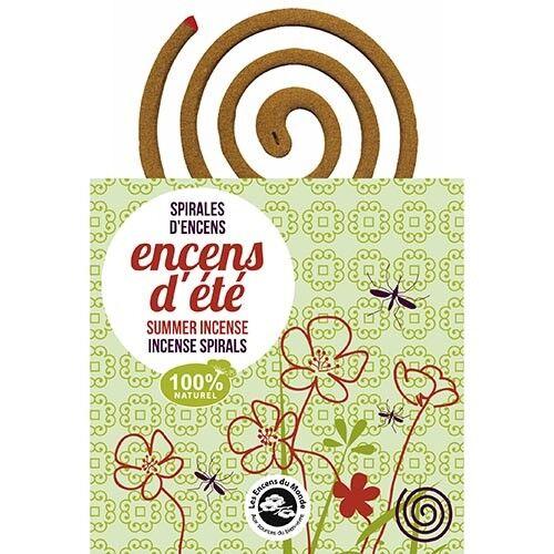Les Encens du Monde Spirale d'encens et son support - Anti-moustiques 10 spirales - Les Encens du Monde