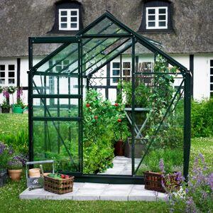 Halls Serre de jardin 6,2m² verte et verre horticole Popular - Halls - Publicité