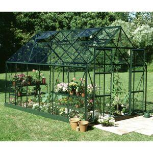 Halls Serre de jardin 9,9m² verte en verre trempé Magnum - Halls - Publicité