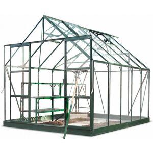 Halls Serre de jardin 8,3m² verte en verre horticole Magnum Halls - Publicité