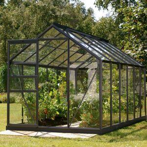 Lams Serre Allium Venus 7,5m² en aluminium laqué gris et verre trempé 3mm + embase incluse - Natura Lams - Publicité