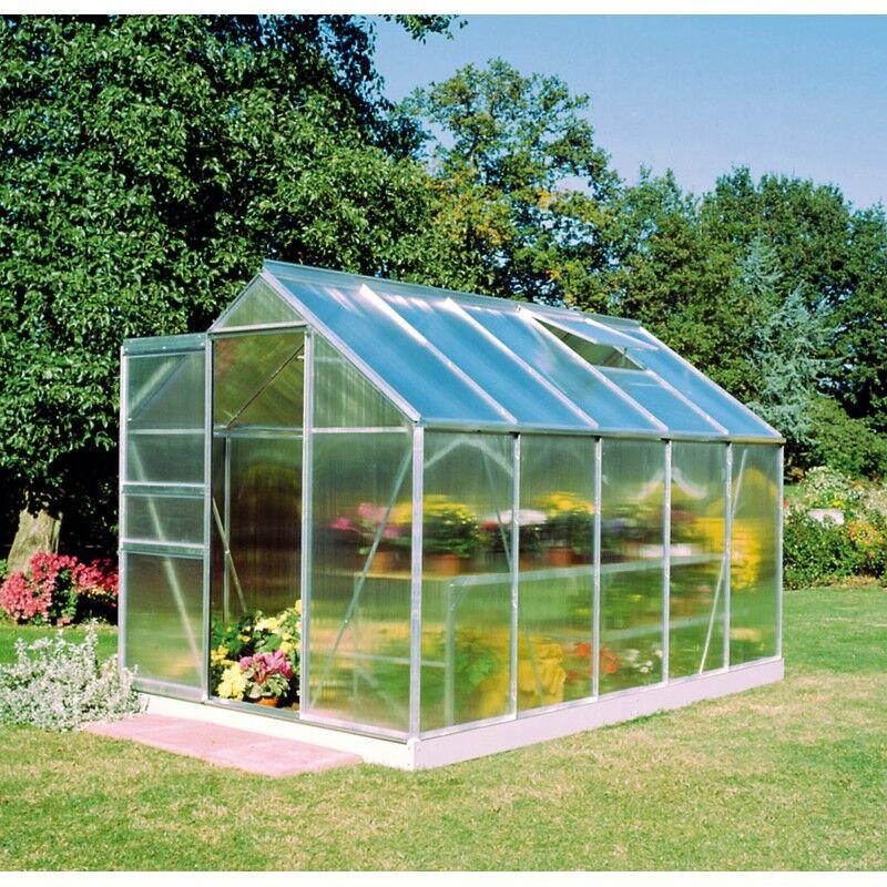 Halls Serre de jardin 6,2m² en polycarbonate 4mm Popular - Halls