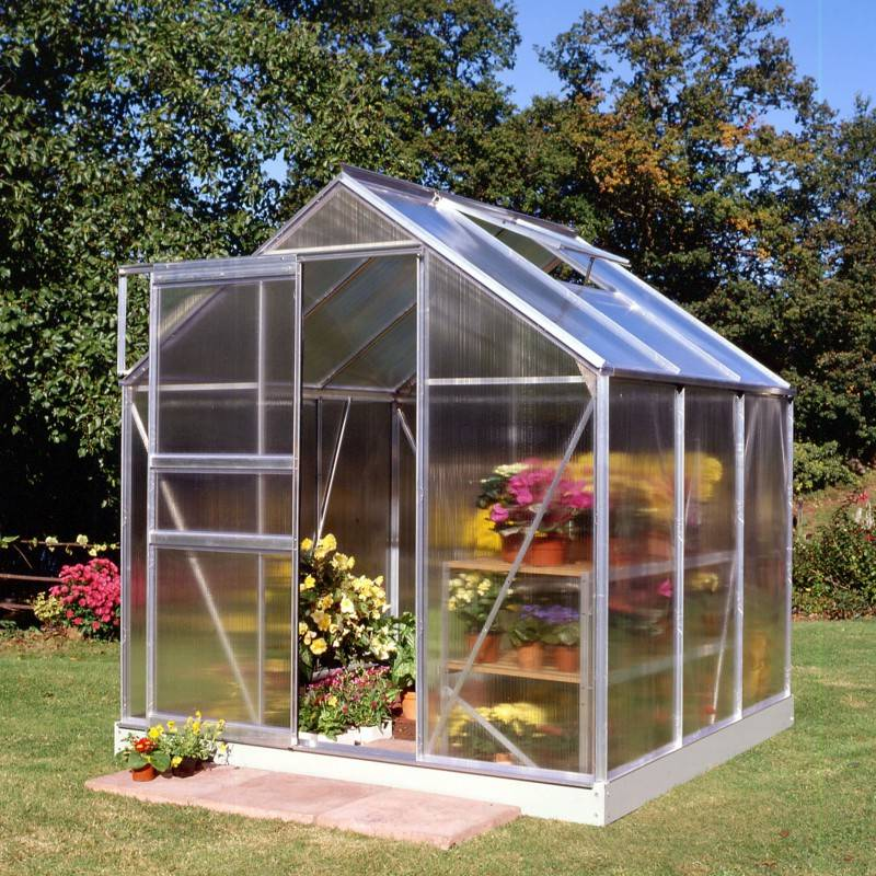 Halls Serre de jardin 3,8m² en polycarbonate 4mm Popular - Halls