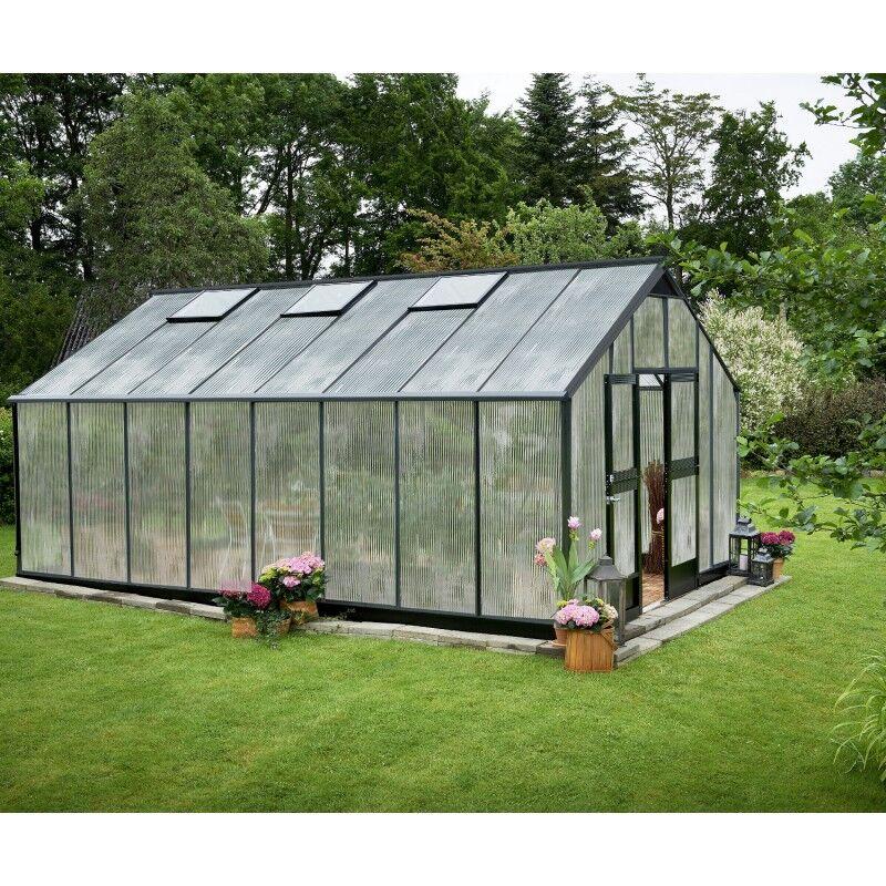 Juliana Serre anthracite 21,4m² en polycarbonate 10mm Gardener - Juliana