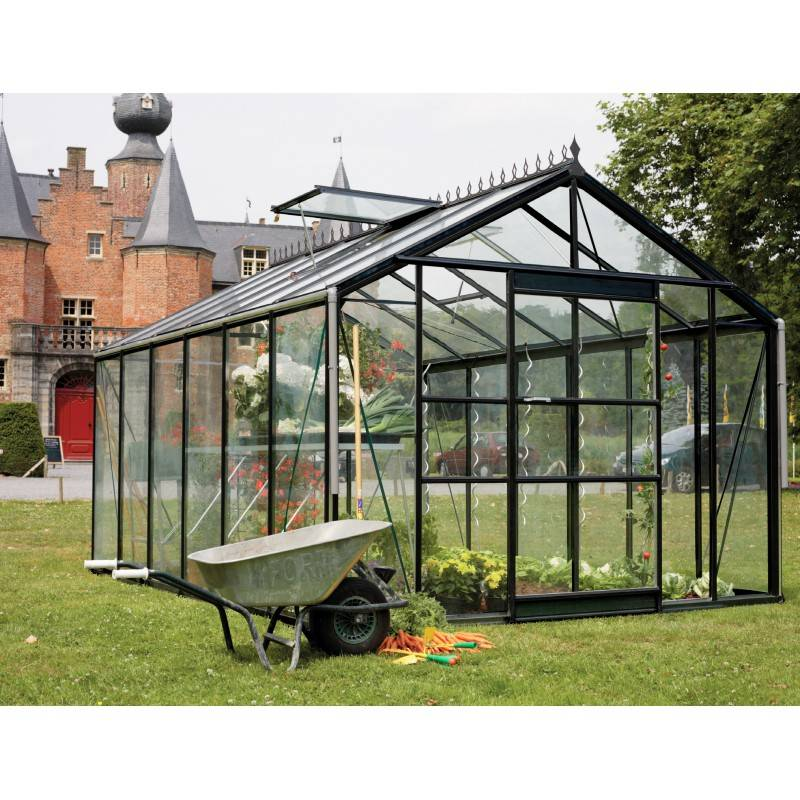 ACD Serre de jardin 13,67m² en verre trempé 4mm Victorian + embase - ROYAL