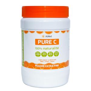 Pure Vitamine C pure en poudre d'origine végétale - Qualité Supérieure - 1 x 500 gr - Publicité