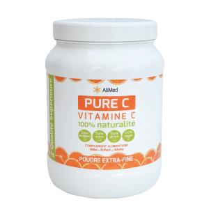Pure Vitamine C pure en poudre d'origine végétale - Qualité Supérieure - Pack 1 x 1 KG