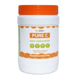 Pure Vitamine C pure en poudre d'origine végétale - Qualité Supérieure - 1 x 500 gr