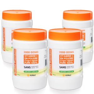 Pack 4 pots de 500 grammes  Frais de port offerts ! (France métropolitaine uniquement)Vitamine C pure en poudre d'origine végétale  Acide L-Ascorbique(CAS 50-81-7)  Qualité Supérieure : Vitamine C la ... Vitamine C pure en poudre d'origine végétale - Qualité Supérieure - 4 x 500 gr