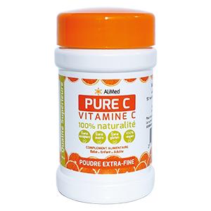 Pure Vitamine C pure en poudre d'origine végétale – Qualité Supérieure – 1 x 250 gr