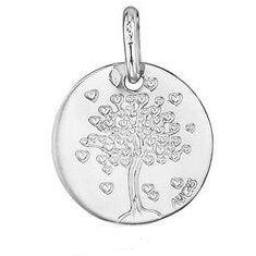 Augis Médaille arbre aux coeurs (Or Blanc)