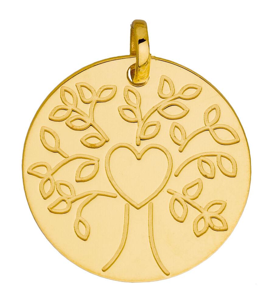 Orféva Médaille Le coeur de l'arbre (Or jaune 9K)