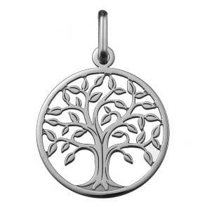 Orféva Médaille arbre de vie ajourée (Or Blanc)