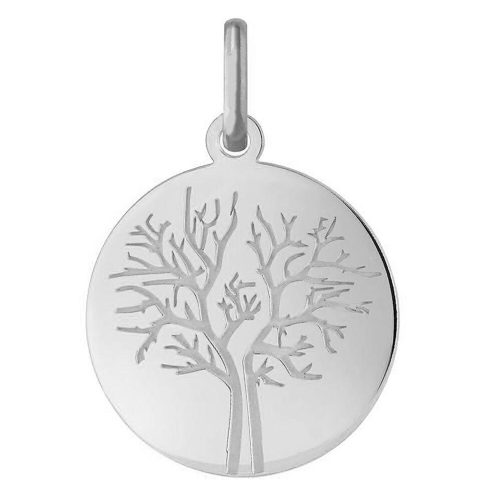 Orféva Médaille arbre de vie les 4 saisons : hivers (Or Blanc)