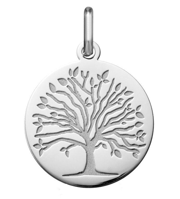 Orféva Médaille arbre de vie les 4 saisons : printemps (Or Blanc)
