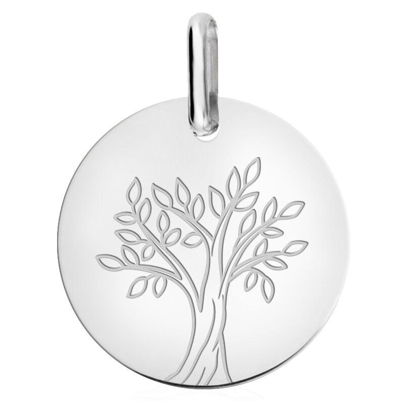 Orféva Medaille arbre de vie en or blanc