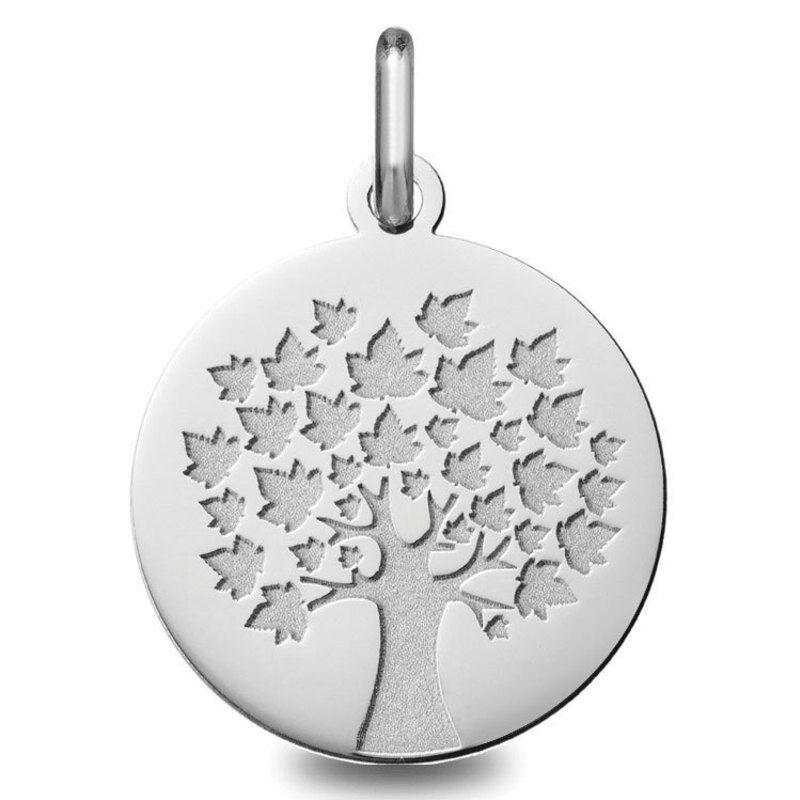 Orféva Médaille arbre de vie (Or Blanc)