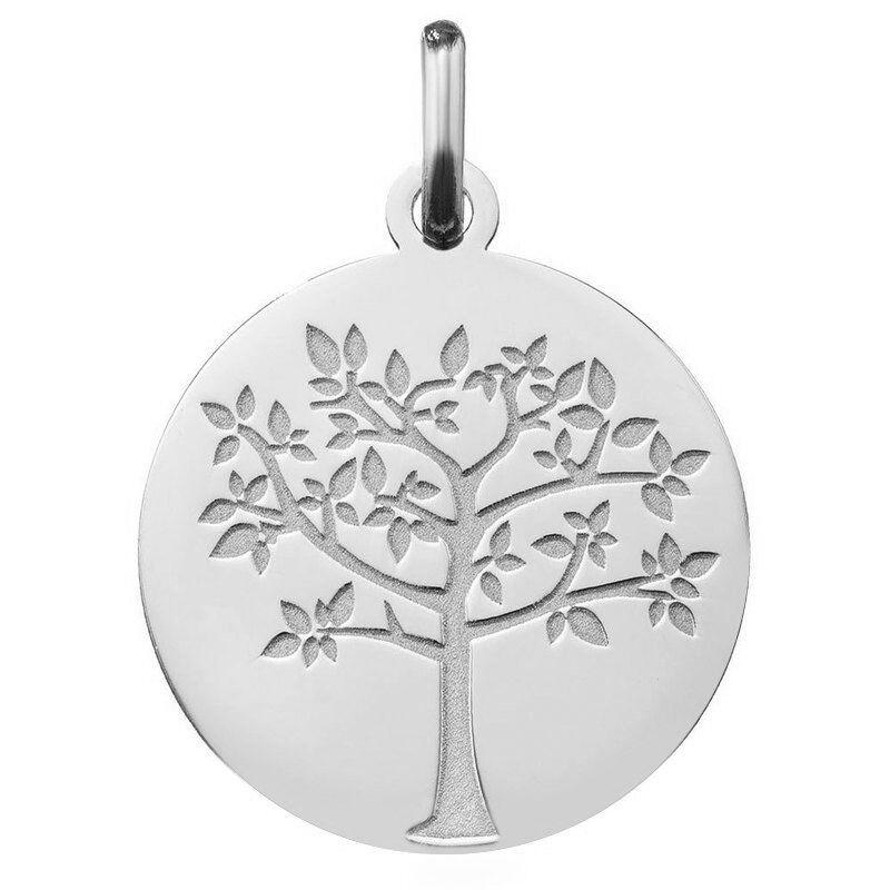 Orféva Médaille arbre de vie printanier (Or Blanc 9K)