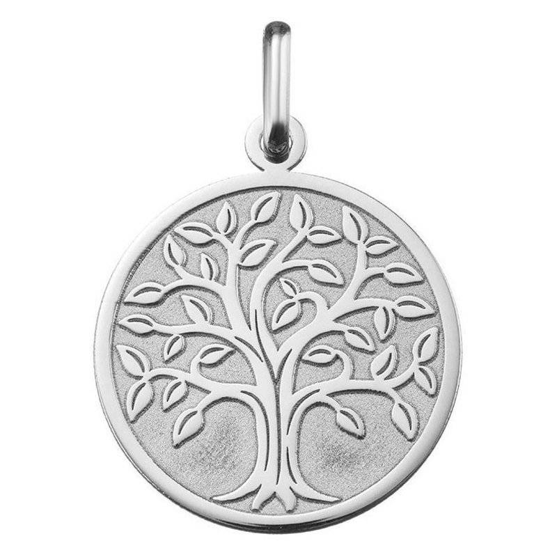 Orféva Médaille arbre de vie ajourée (or blanc 9 carats)
