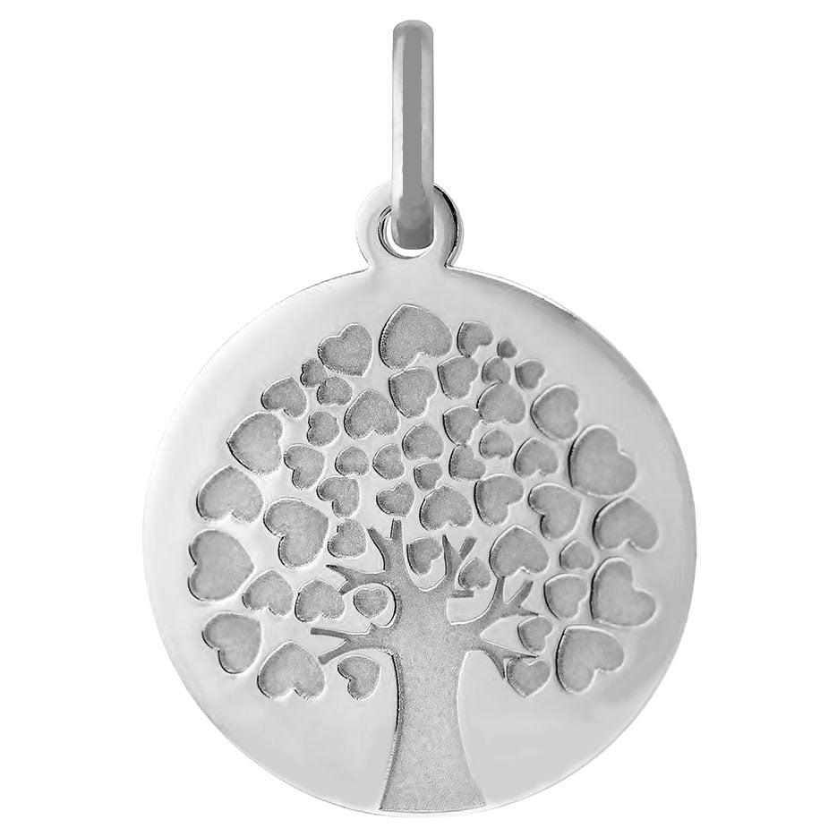 Orféva Médaille arbre de vie coeurs (Or Blanc 9K)