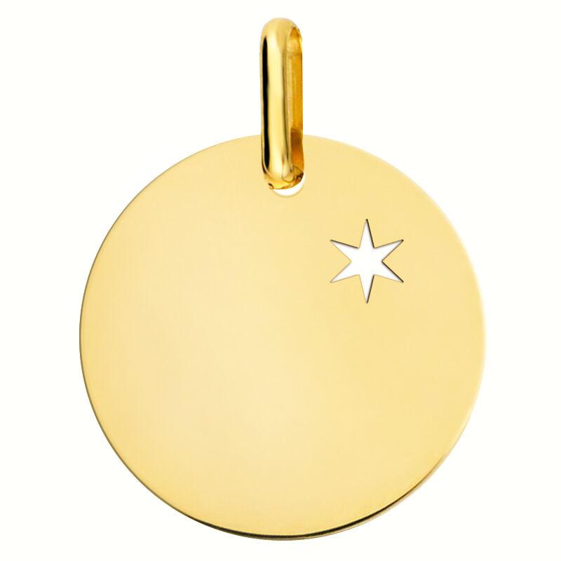 Orféva La Médaille une étoile te guidera (or jaune 9 carats)