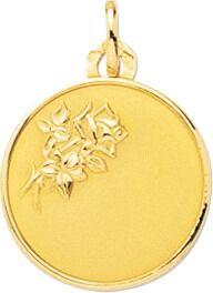 Orféva Médaille à la Rose  (Or Jaune)
