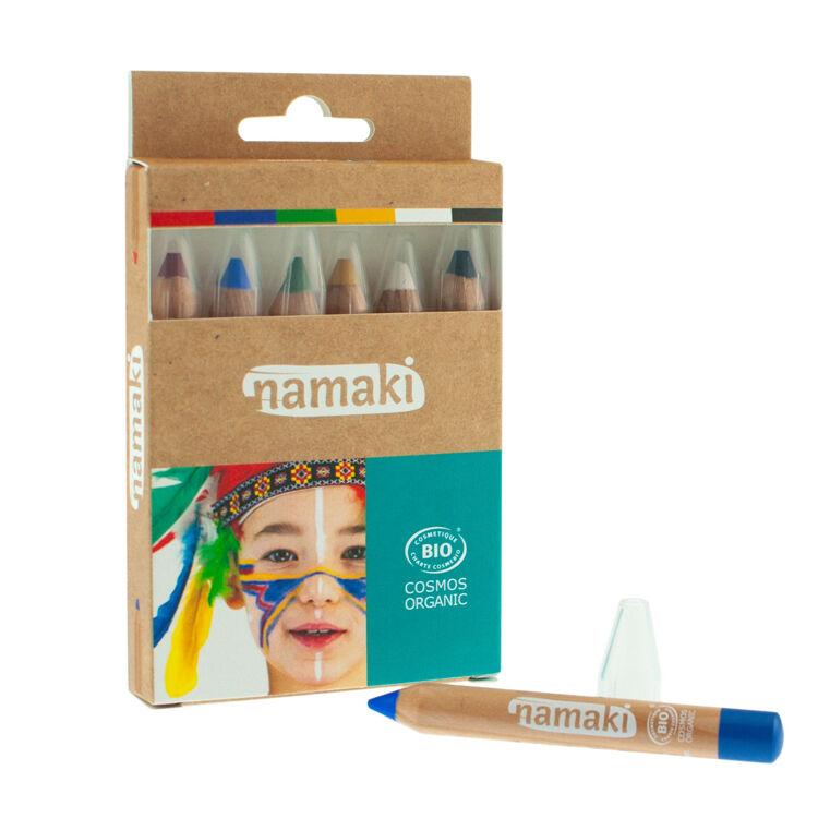 NAMAKI Kit de 6 crayons de maquillage Arc-en-ciel - NAMAKI