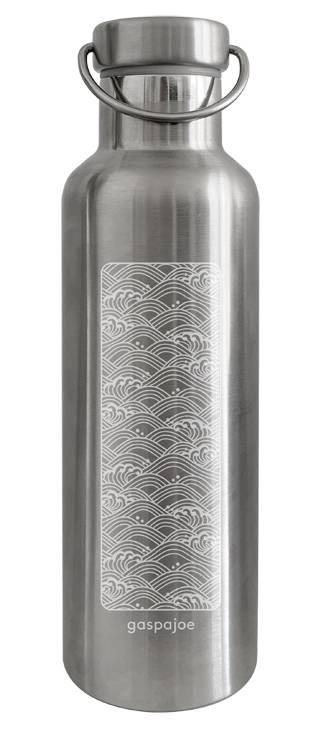 GASPAJOE Gourde en inox 750 ml collection Groovy gravée Vagues - GASPAJOE