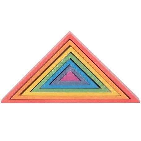 TICKIT Triangles en bois Arc En Ciel - TICKIT