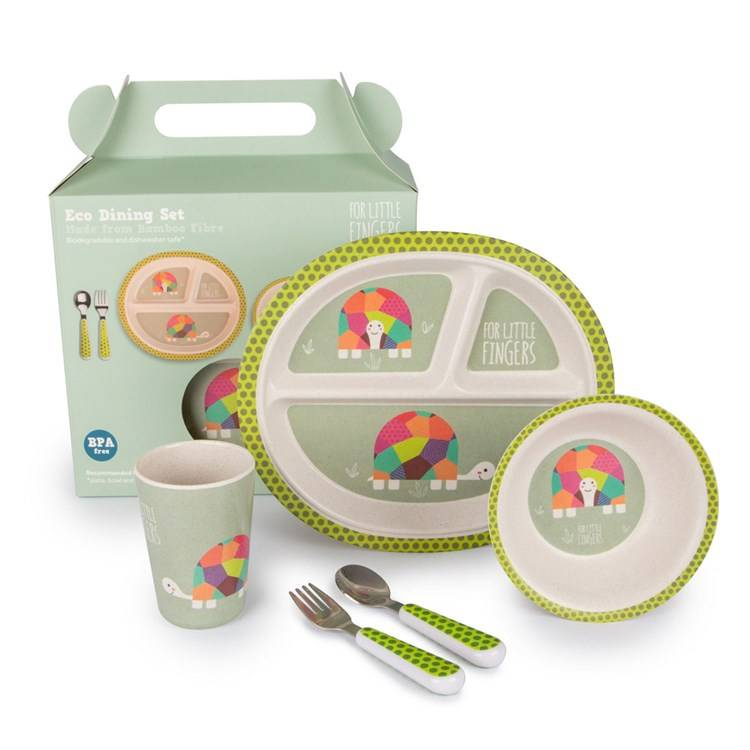 FOR LITTLE FINGERS Set repas en Bambou Tortue - FOR LITTLE FINGERS