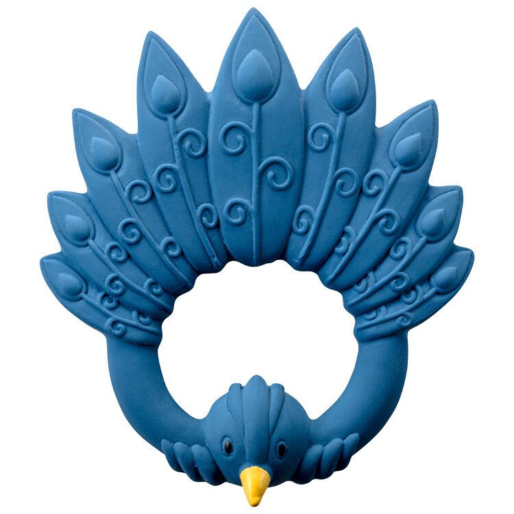 NATRUBA Anneau de dentition en caoutchouc naturel Paon Bleu - NATRUBA