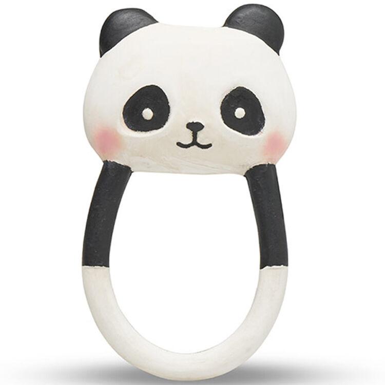 LANCO TOYS Anneau de dentition panda Kori en caoutchouc naturel - LANCO TOYS