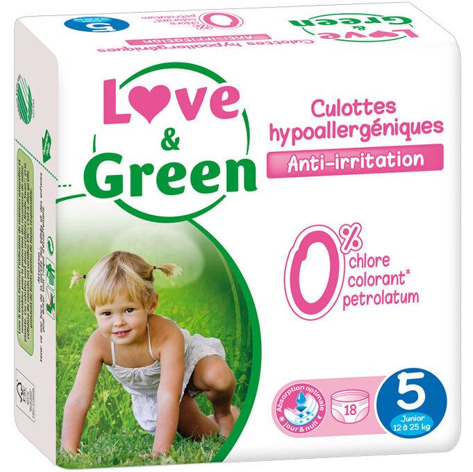 LOVE & GREEN Culottes d'apprentissage jetables écologiques Taille 5 JUNIOR 12-25kg - LOVE & GREEN