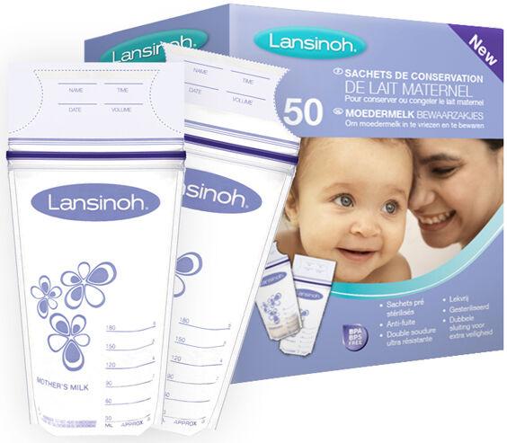 LANSINOH Sachet de conservation du lait maternel 50 pc - LANSINOH