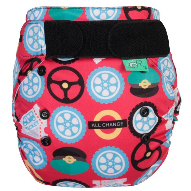 TOTS BOTS Couche lavable TE1 -  EASYFIT - Taille Unique (3.5-15kg) - Wheels on the Bus - TOTS BOTS