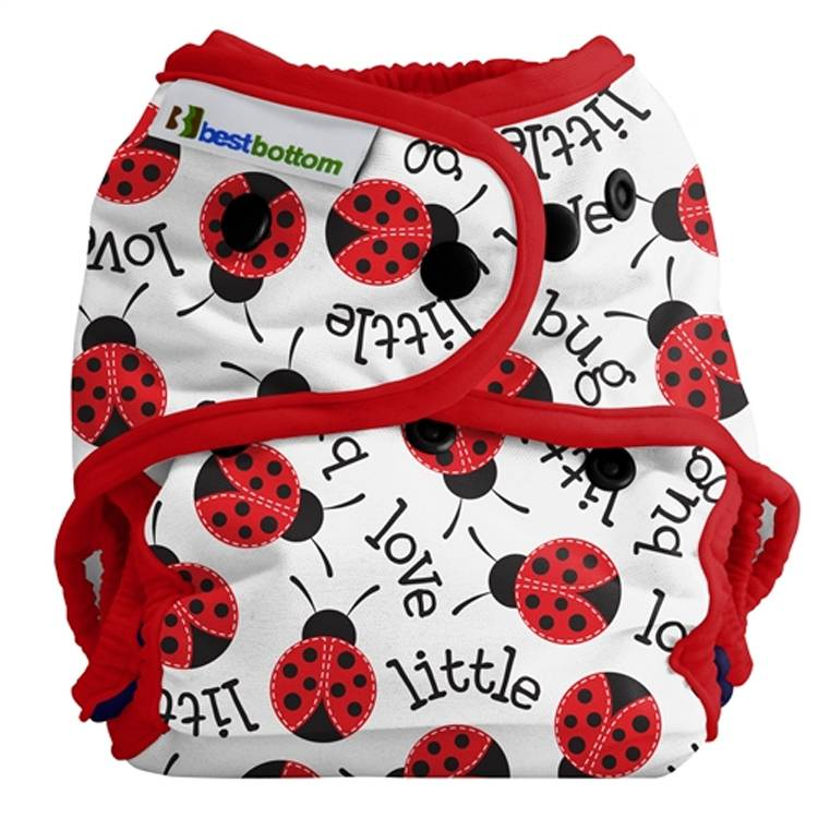 BEST BOTTOM Couche lavable TE2 (Tout en 2) - Taille Unique (4-14kg) - Little Love Bug - BEST BOTTOM