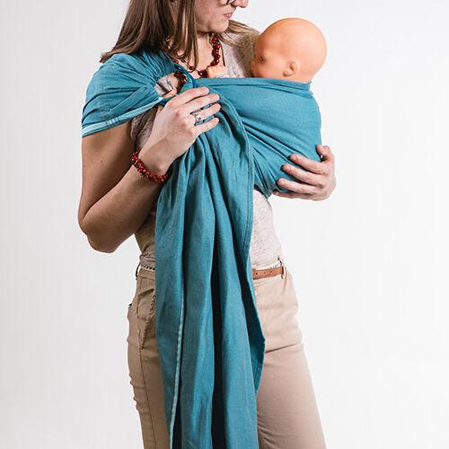 NEOBULLE Porte-bébé NEO SLING Bleu Denim Coton Bio - NEOBULLE