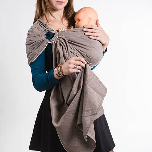 NEOBULLE Porte-bébé NEO SLING Marron Cappuccino Coton Bio - NEOBULLE