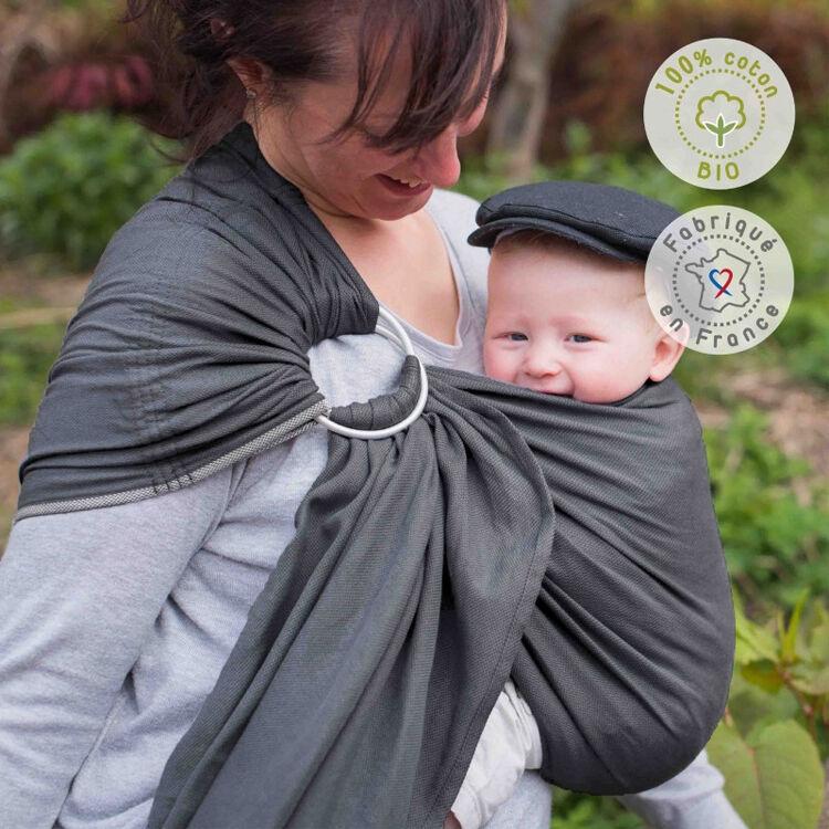 NEOBULLE Porte-bébé NEO SLING Anthracite Coton Bio - NEOBULLE