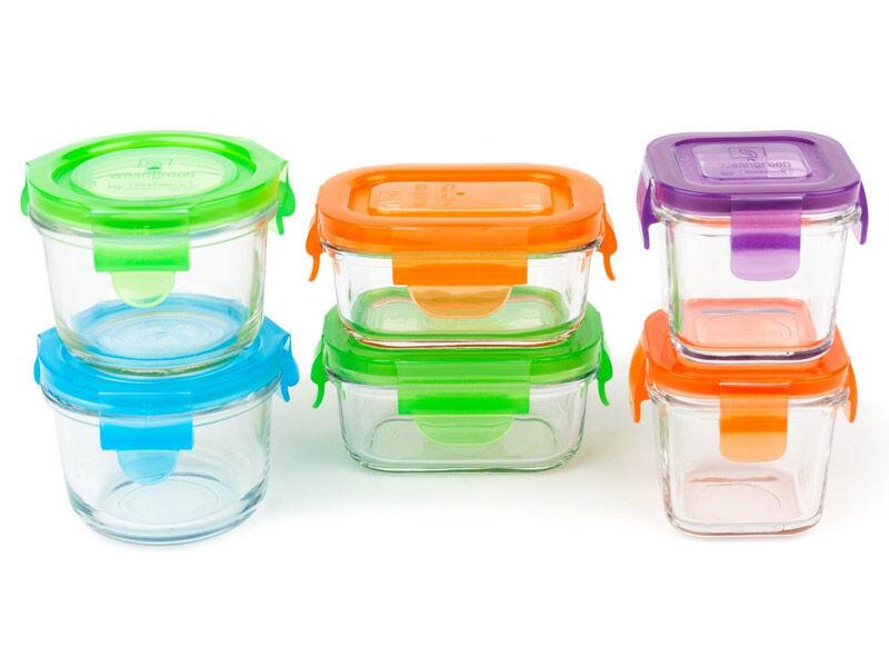WEANGREEN Coffret 6 Pots de Conservation en verre trempé - WEANGREEN
