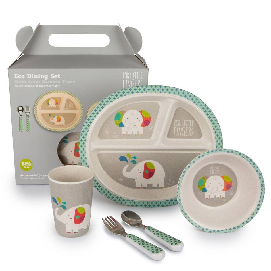 FOR LITTLE FINGERS Set repas en Bambou Eléphant - FOR LITTLE FINGERS
