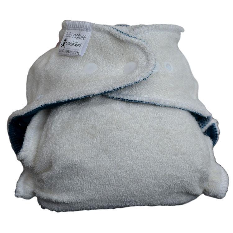 LULU NATURE Couche lavable DODO BAMBOU Taille Unique (5-15kg) - LULU NATURE