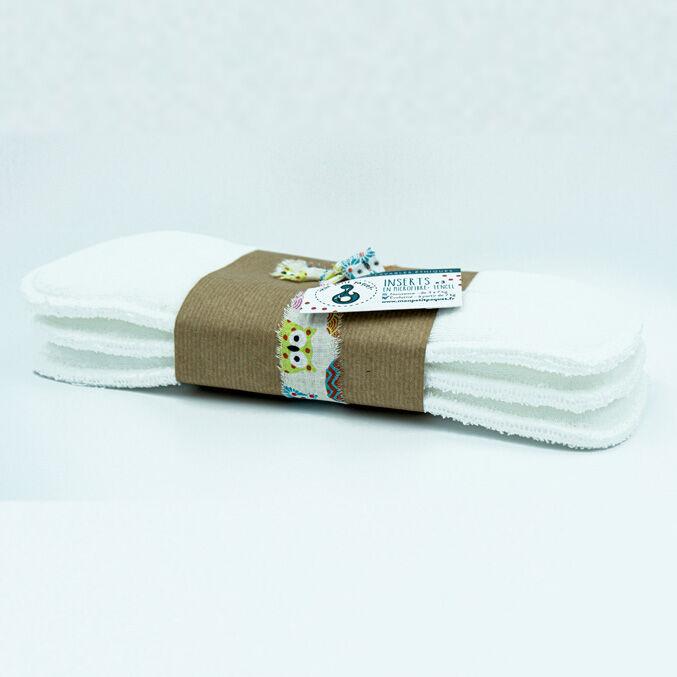 MON PETIT PAQUET Lot de 3 Inserts Taille 2 (7-16kg) - Microfibre et Tencel - MON PETIT PAQUET