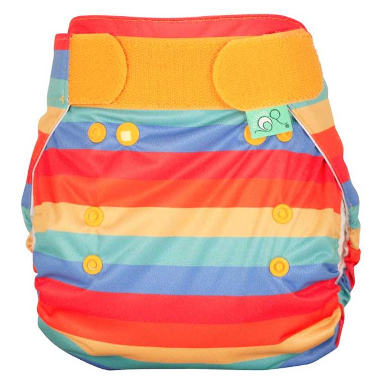 TOTS BOTS Couche lavable TE2 - PEENUT - Taille Unique (3.5-15kg) - Rainbow Stripe - TOTS BOTS