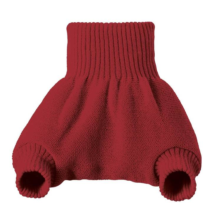 DISANA Culotte de protection bordeaux en laine Mérinos 2-3 ans - DISANA