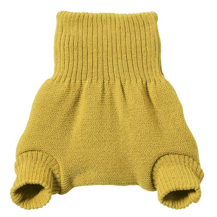 DISANA Culotte de protection curry en laine Mérinos 6-12 mois - DISANA